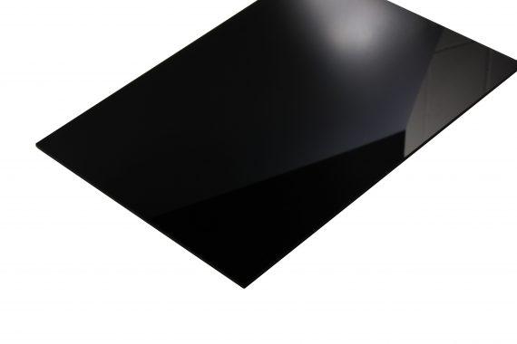 Acrylaat glans zwart 3 mm