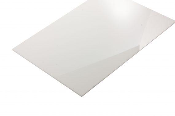 Acrylaat glans wit 3 mm