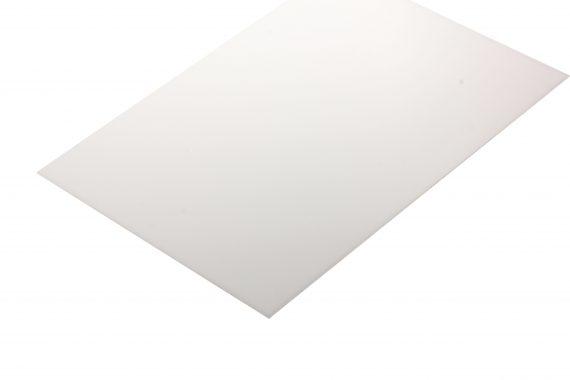 Polyacetaal translucent wit 1 mm
