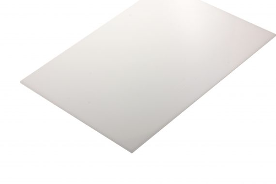 Polyacetaal translucent wit 2 mm