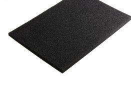 PE schuim zwart 10 mm
