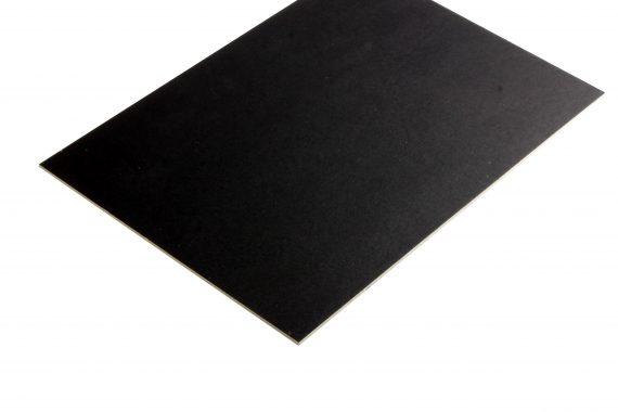 Presentatiekarton tweezijdig zwart 2.5 mm