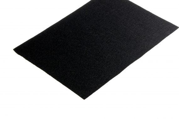 Wolvilt zwart 1 mm