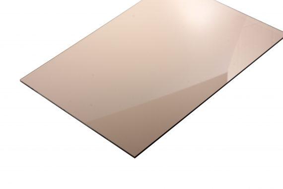 Acrylaat transparant glans smoke bruin 3 mm