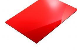 Acrylaat transparant glans rood 3 mm