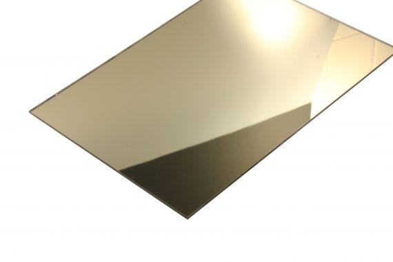 Acrylaat spiegel goud 3 mm