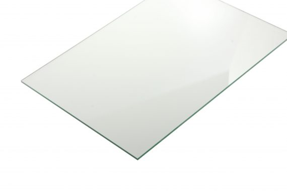 Acrylaat transparant glans glas look 3 mm