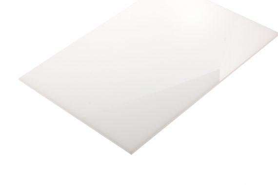 Acrylaat translucent glans wit 3 mm