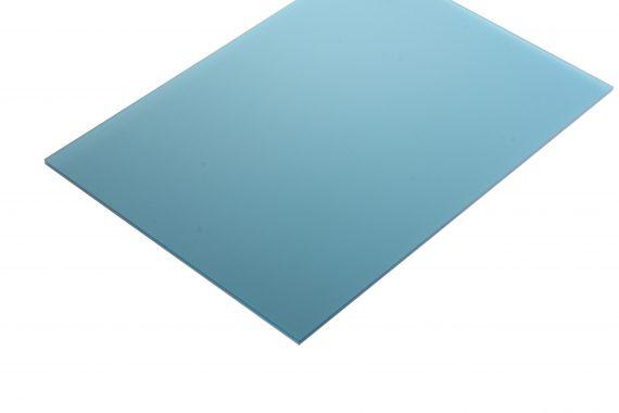 Acrylaat translucent mat peacock blue 3 mm