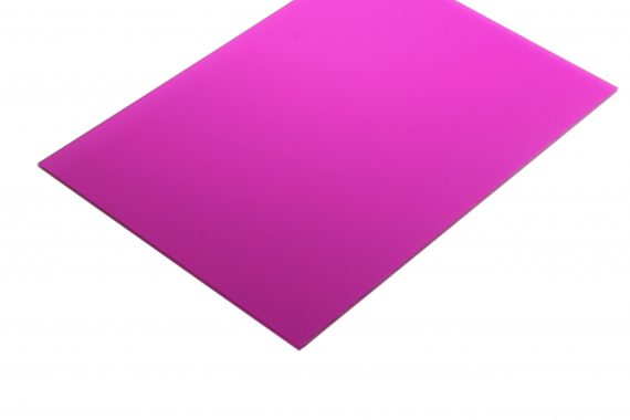 Acrylaat translucent mat cyclaamrood 3 mm