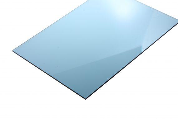 Acrylaat transparant glans lichtblauw 3 mm