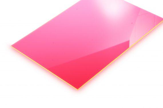 Acrylaat transparantglans fluor oranje 3 mm