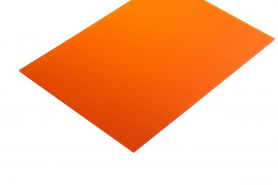 Acrylaat translucent mat oranje 3 mm