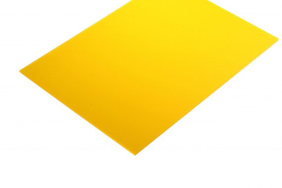 Acrylaat translucent mat geel 3 mm