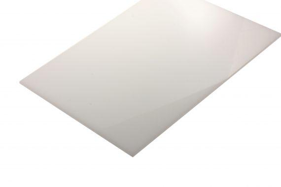 Polyacetaal translucent wit 3 mm